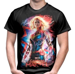 Camiseta Capitã Marvel Carol Danvers Vingadores Marvel,
