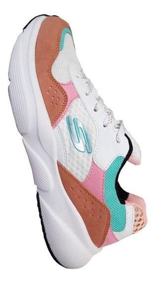 Tenis Skecher D´ Lite Mujer Zapatillas Originales