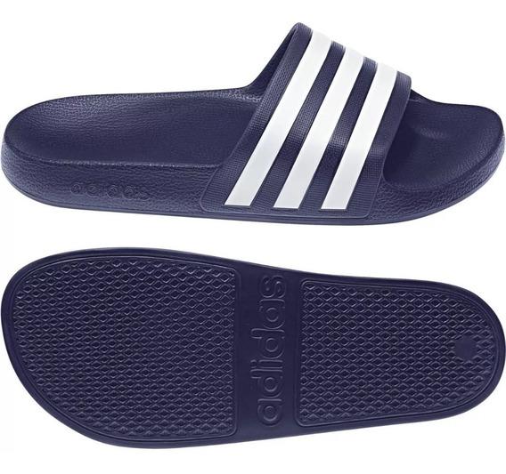 Chinelas adidas Adilette Aqua - Azul Blanco