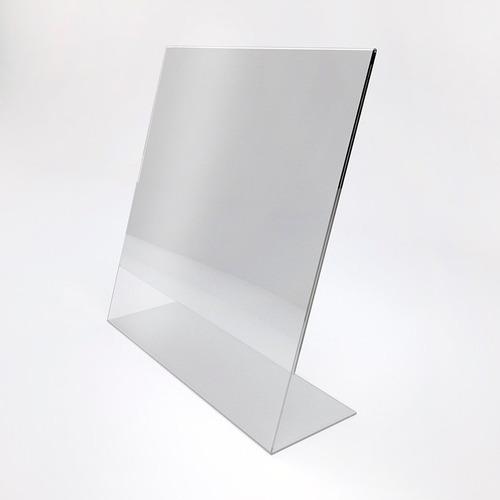 Habladores En Acrilico Cristal, Tipo L Tamaño 1/2 Carta