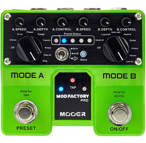 Pedal Mooer Mod Factory Pró Dual Modulation Efeitos Guitarr