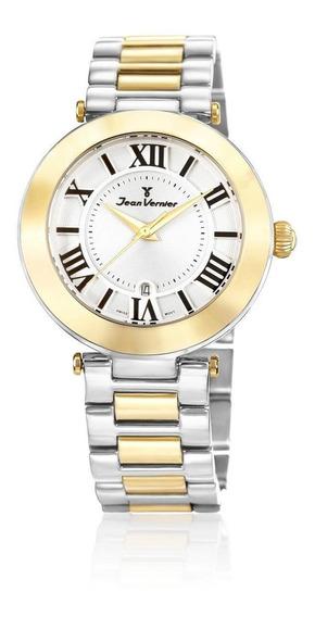 Relógio Pulso Jean Vernier Aço Feminino Casual Jv06854