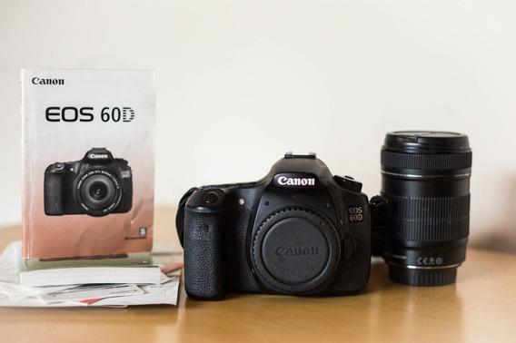 Canon 60d - Câmera Dslr -lente Kit 18-135 + Bolsa