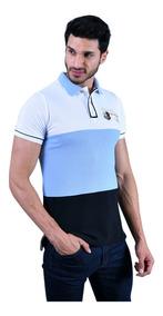 Playera Porto Blanco Polo Camisa Polo Azul Y Blanca Ple-767