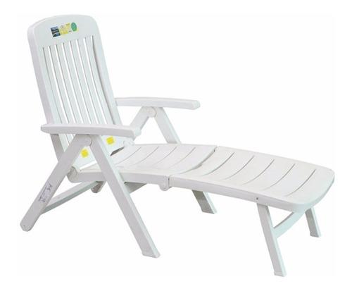 Espreguiçadeira Cadeira Para Sítios E Hotéis Branca Dobrável