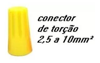 Kit 100 Conector De Torção Amarelo Emenda Cabo 2,5 A 10mm