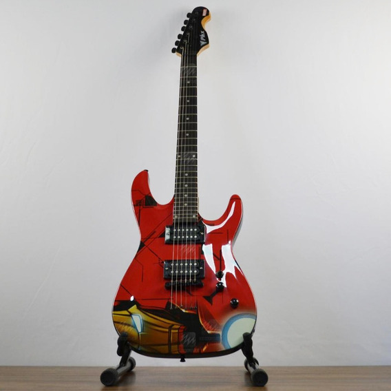 Guitarra Phx Gmi-1 Marvel Homen De Ferro