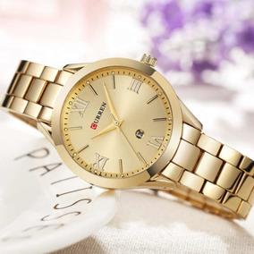 Relógio Feminino Curren 9007 Gold