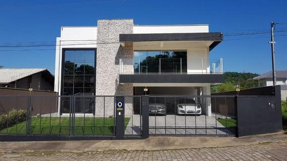 Excelente Casa A Venda Alto Padrão, 4 Dorm, 1 Suite, Piscina, No Bairro Vorstadt Blumenau Sc - Ca0329