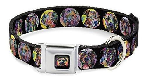 Imagen 1 de 8 de Collar De Perro Del Cinturón De Seguridad Hebilla De Pitbull