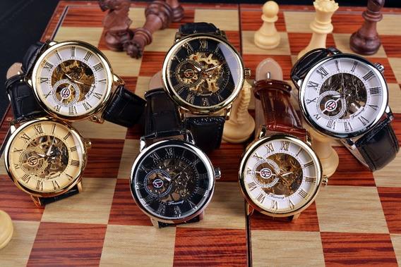 Relógio Forsining Mecânico Skeleton