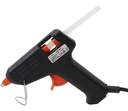 Pistola Silicona Encoladora Pegamento Aplicadora Pegar 10w