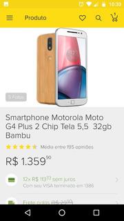 Vendo Celular Moto G4 Plus Bambu