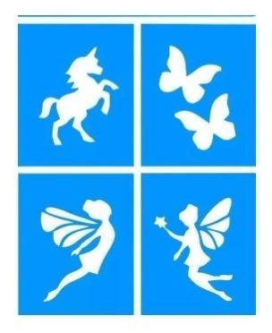 Stencil Unicornio Arte Papelaria E Armarinho No Mercado Livre