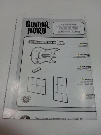 Xbox Ps3 Guitar Hero Manuais Rock Band