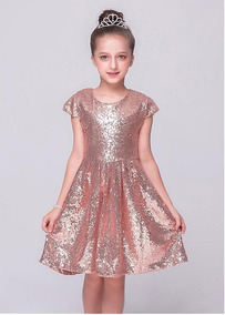 Luxo Várias Cores Vestido Menina Bordado Paetê Festa Infanti