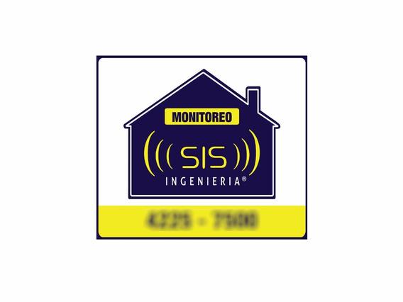 Cartel Seguridad Pvc Disuasivo Propiedad Protegida Alarma Monitoreo 24hs