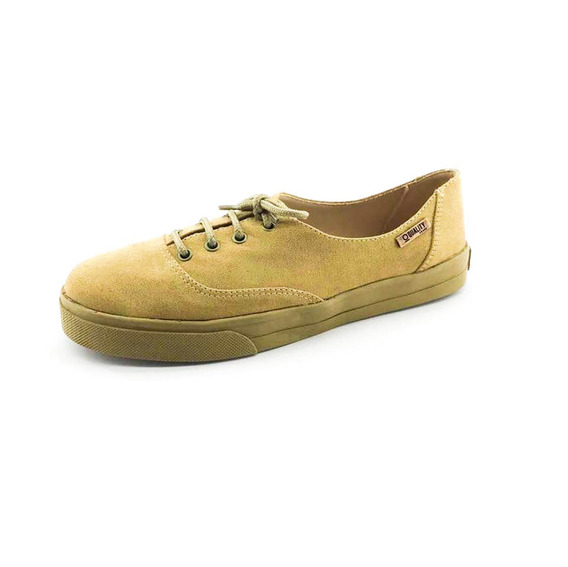 Tênis Quality Shoes Feminino 005 Camurça E Sola Caramelo
