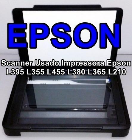 Scanner Impressora Epson L395 L355 L455 L380 L365 L210