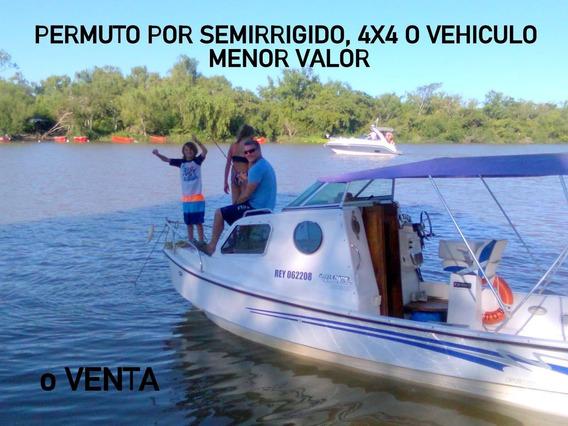 Lancha Tracker Cabinado Naval Center 2012 90hp Mercury