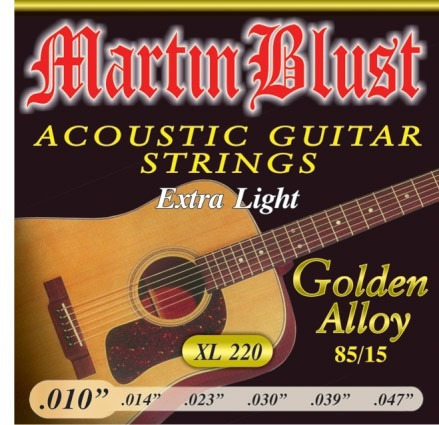 Encordado Guitarra Acústica Martin Blust 010 Xl 220 Leomusic