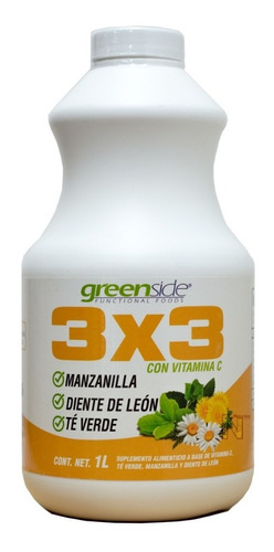 Imagen 1 de 3 de Bebida 3x3 De 1 Litro Greenside