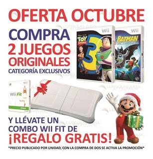 Toy Story 3 Y Mas Juegos Originales Nintendo Wii Y Wii U