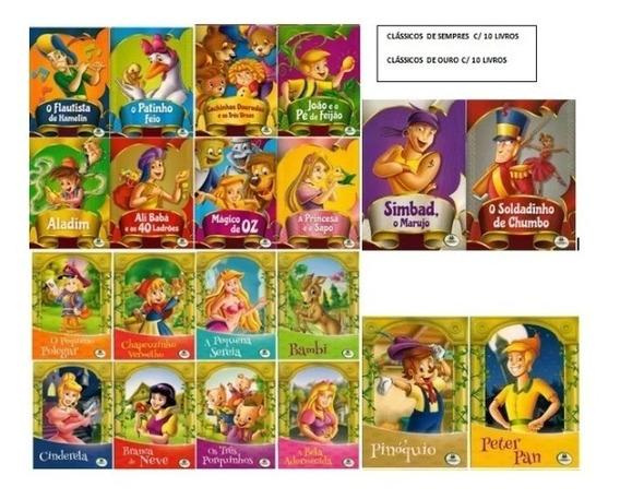 Clássicos De Ouro + Clássicos De Sempre - 20 Livros Infantis