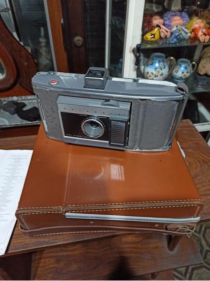 Câmera Polaroid Antiga J66 Com Case E Manuais Fole