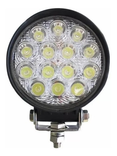 Faro Auxiliar Led Proyector Spot Flood 14 Led 42w Off Road