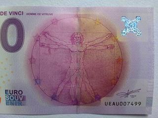 Billete 0 Euro El Hombre De Vitruvio Leonardo Da Vinci 2016