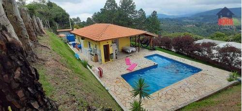 Chácara Com 2 Dormitórios À Venda, 615 M² Por R$ 480.000,00 - Jardim Alvinópolis - Atibaia/sp - Ch0371