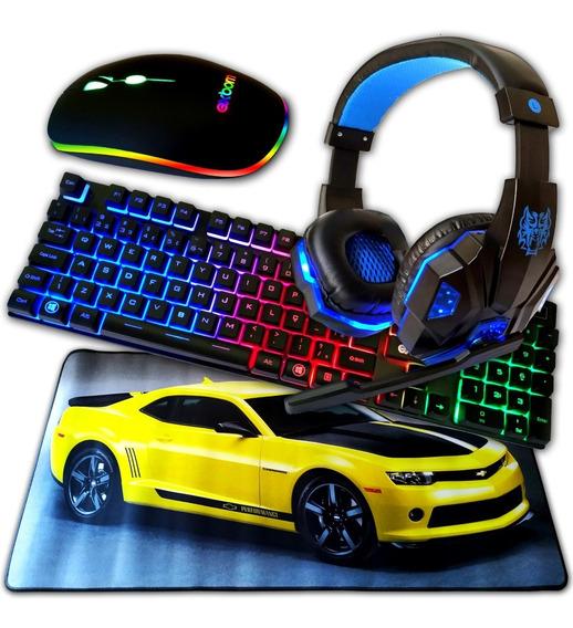 Teclado Gamer Leds Mouse Gamer Leds Head Set Mousepad 70x35