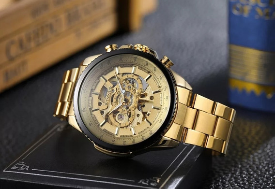 Relógios Masculinos Automático Casual Skeleton