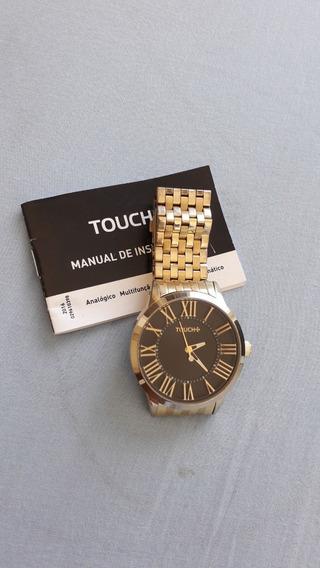 Relógio Marca Touch Dourado