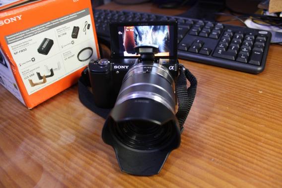 Câmera Mirrorless Sony Alpha A5000l 20.1mpx + Lente De 18-55