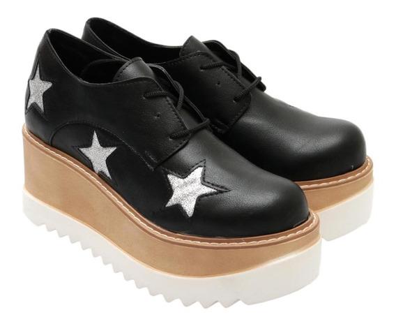 Zapato Acordonado Estrellas Bse Doble Combinada