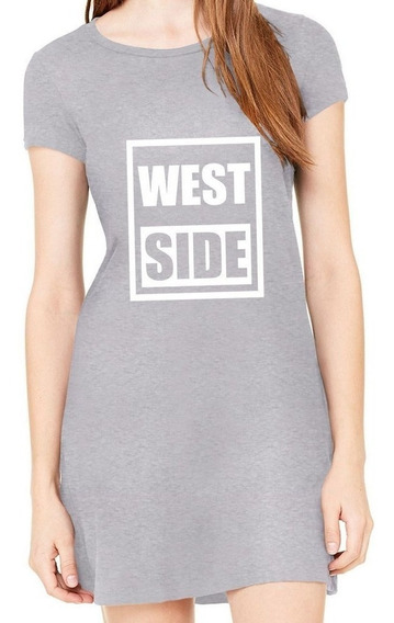 Vestido West Side Curto Simples Moda Roupa Feminina