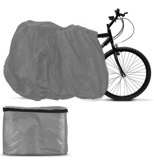 Capa Cobrir Bike Bicicleta Ergometrica Forrada Cinza Forro