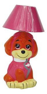 Lámpara Cerámica Decorada Infantil Perrita Sky Paw Patrol