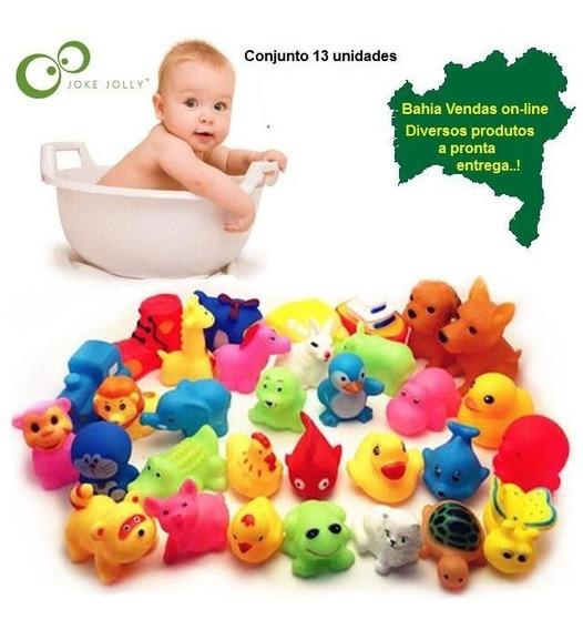 Brinquedo Banho Bebe Gato Patinho Infantil Bebê 13 Unidades