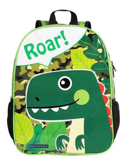 Mochila Infantil Escolar De Costas Dinossauro Zoo Roar