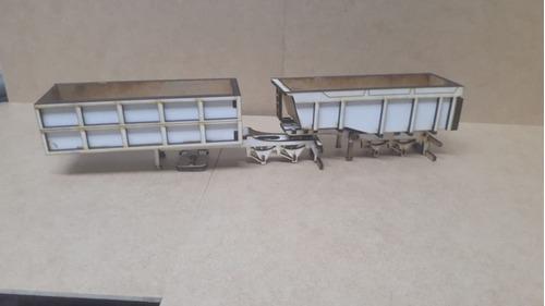 Carreta Bicaçamba Miniatura Corte Laser Mdf Desmontada 1/50
