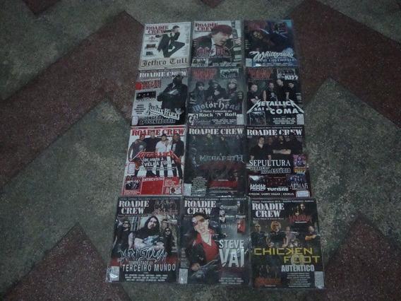 12 Revistas Da Roadie Crew-heavy Metal E Classic Rock