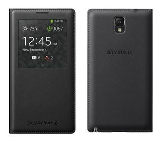 Samsung Galaxy Note 3 S View Flip Cover Negro Original