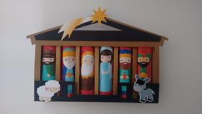 Caixinhas Natal Presépio Para 6 Batons