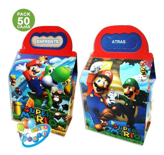 Mario Bros 50 Cajas Dulceras Fiesta Mario Bross Bolo