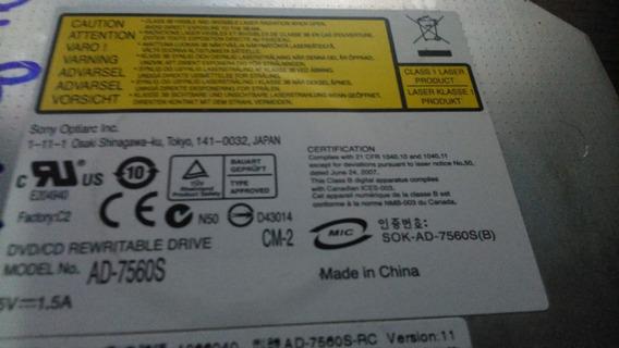 Gravador/leitor Dvd/cd Sata Sony Ad-7560s Para Notebook