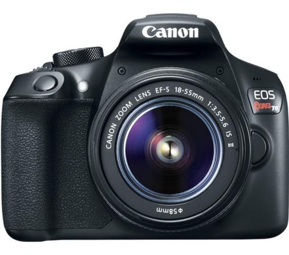 Câmera Canon Rebel T6 C/ 18-55mm Iii+ 32gb+ Bolsa+ Tripé+ Nf
