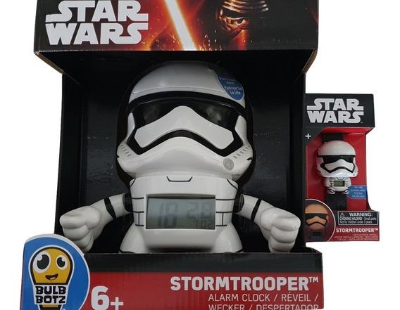 Reloj + Despertador 19cm Stormtrooper Bulb Botz Nuevo Factur